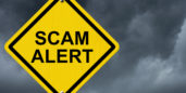 scam alert sign for this increasingly common job scam.