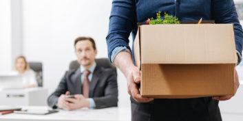 Man leaving a job