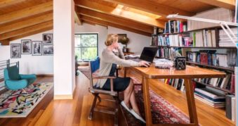 Real-life remote workers in their home offices