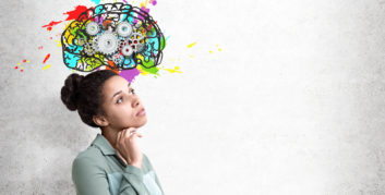 Woman with emotional intelligence in the workplace