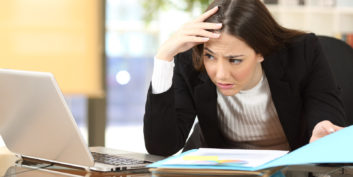 Woman dealing with a micromanaging boss.