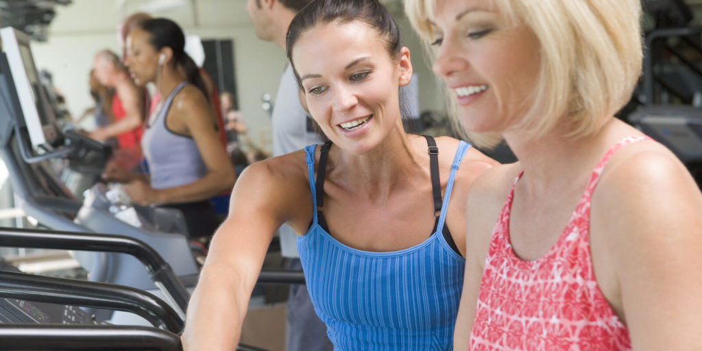 Personal trainer, one of the jobs at these health and wellness companies with flexible jobs.