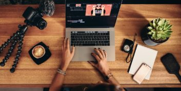 Video editor, one of the remote film industry jobs.