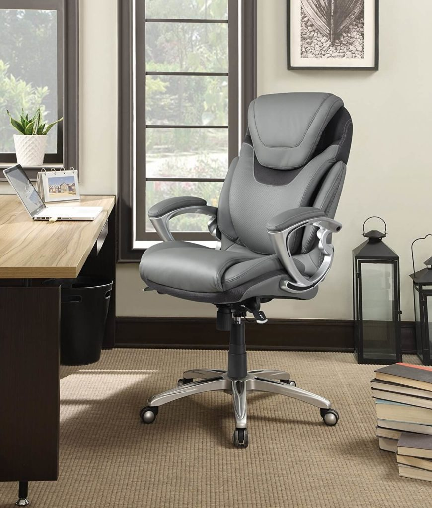 home office items. Serta Works Executive Office Chair With AIR Technology ($168): Made By (the Mattress Company), This Offers A Unique Air Kinetic Lumbar Support Home Items