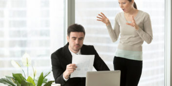 Man trying to manage an overbearing boss