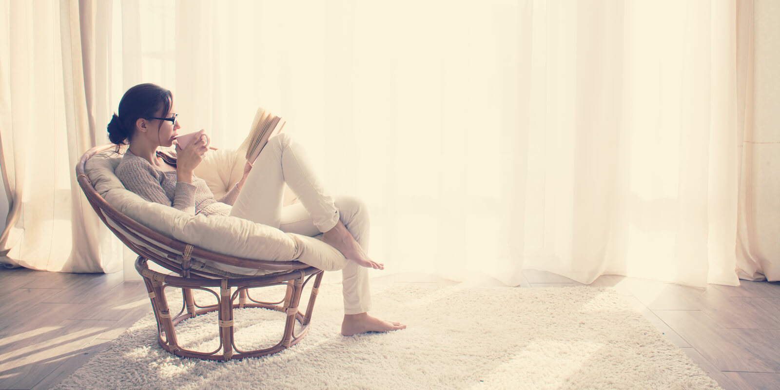 Woman reading work-life balance books