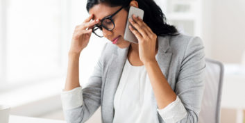 Woman experiencing job search stress