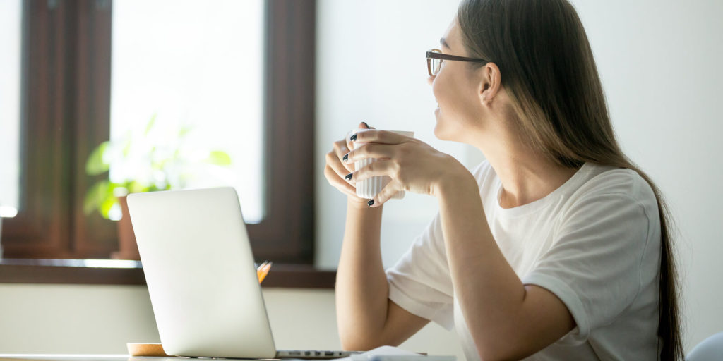 Woman practicing planned neglect