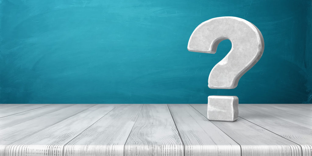 Question mark for questions to ask yourself before making a career change