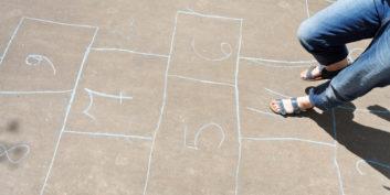 Employee job hopping and playing hopscotch