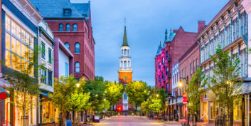 Burlington, Vermont, a state that is paying remote workers $10,000 to move there