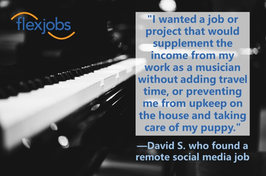 Remote Social Media Jobs >> Musician Supports Career Goals With Remote Social Media Job