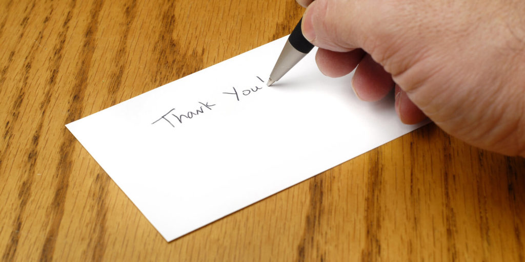 Thank-you note