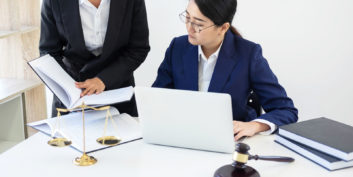 Women working at remote attorney jobs