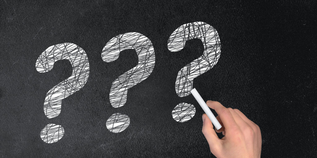 Question mark for important questions to ask yourself before getting a remote job