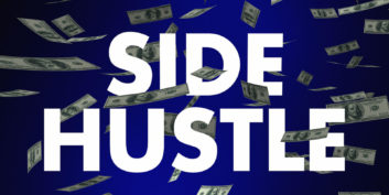 Side hustle sign for high-paying, flexible side jobs