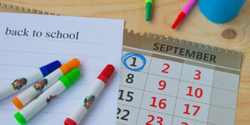 Calendar for juggling kids and work during back-to-school season