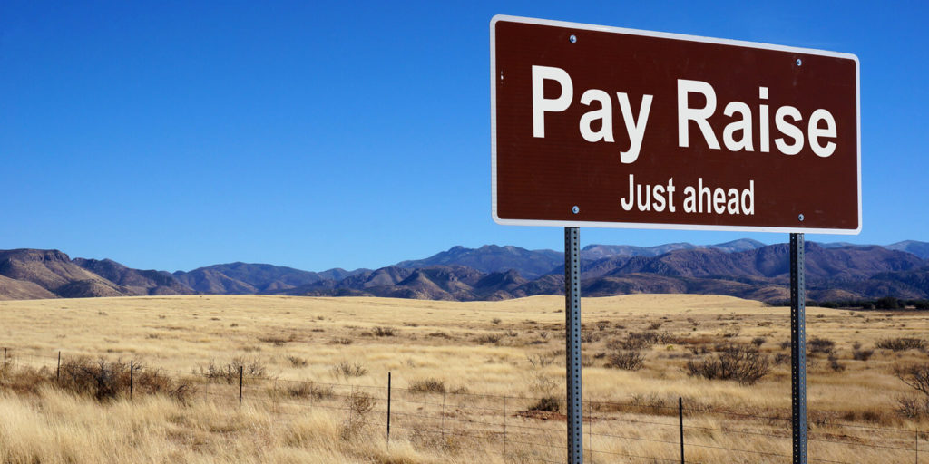 Sign for asking for a pay raise as a freelancer