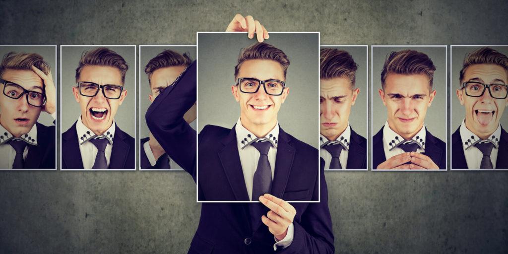 Man displaying bringing your whole self to work