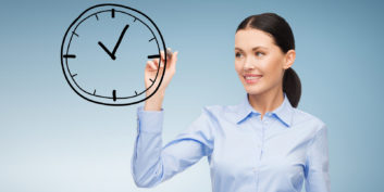 Woman making imaginary deadlines to boost productivity