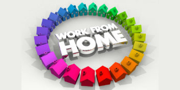 Working from home sign for National Work-from-Home Week