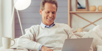 Man thinking about the opportunity to go remote