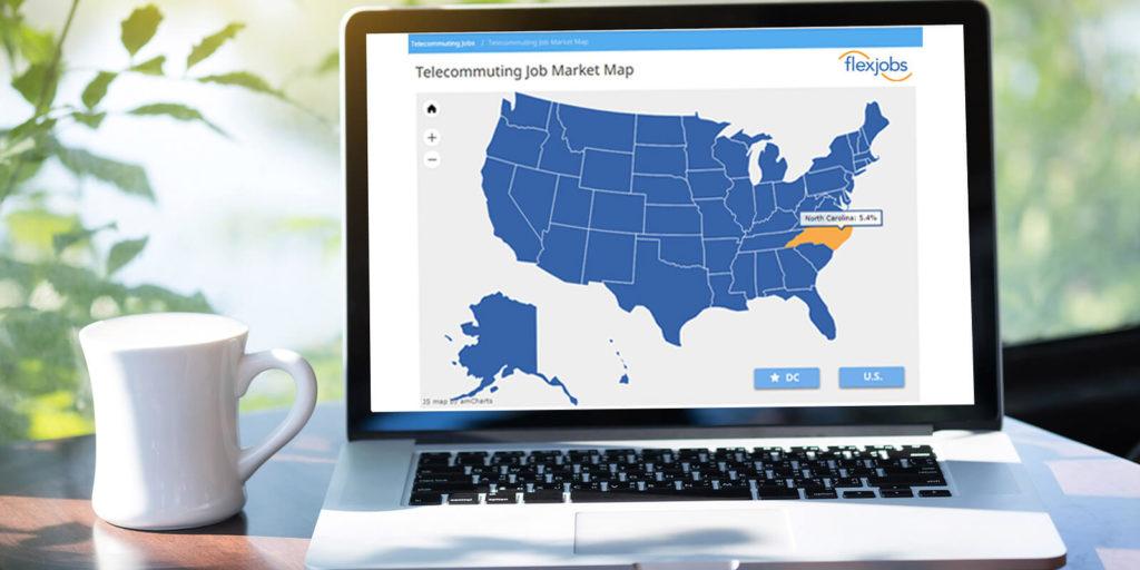 Remote job market map