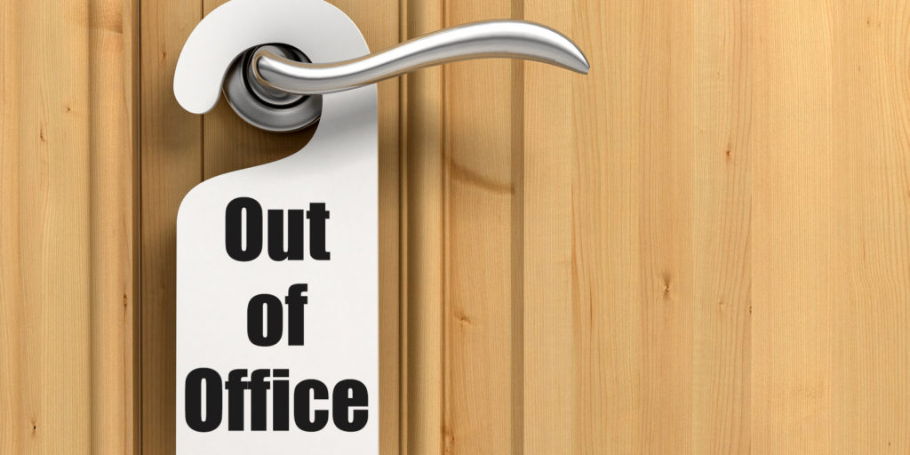 Out of office sign for taking a break as a freelancer