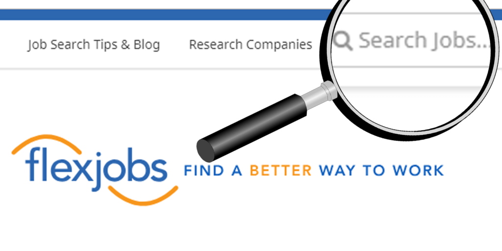 FlexJobs' keyword search and common questions about using flexjobs