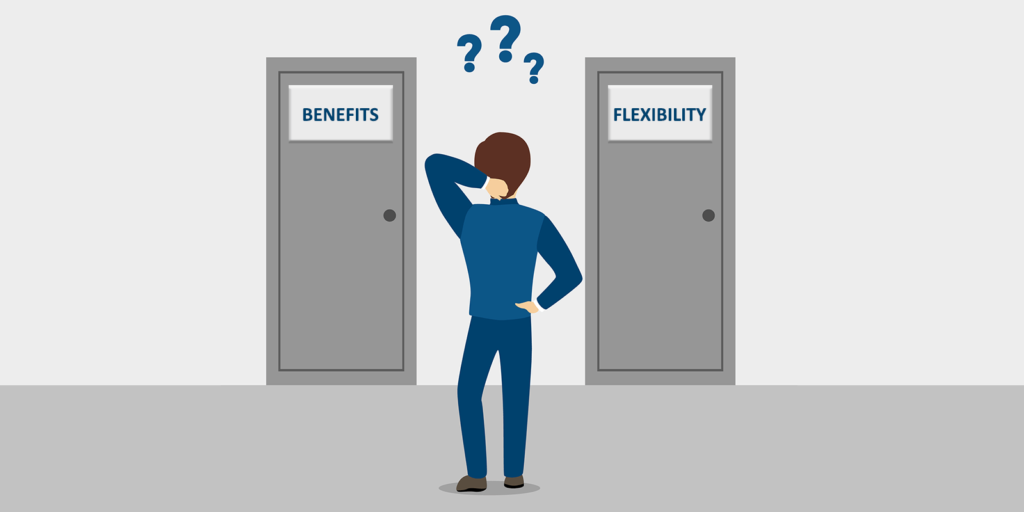 Deciding what work benefits to trade for work flexibility