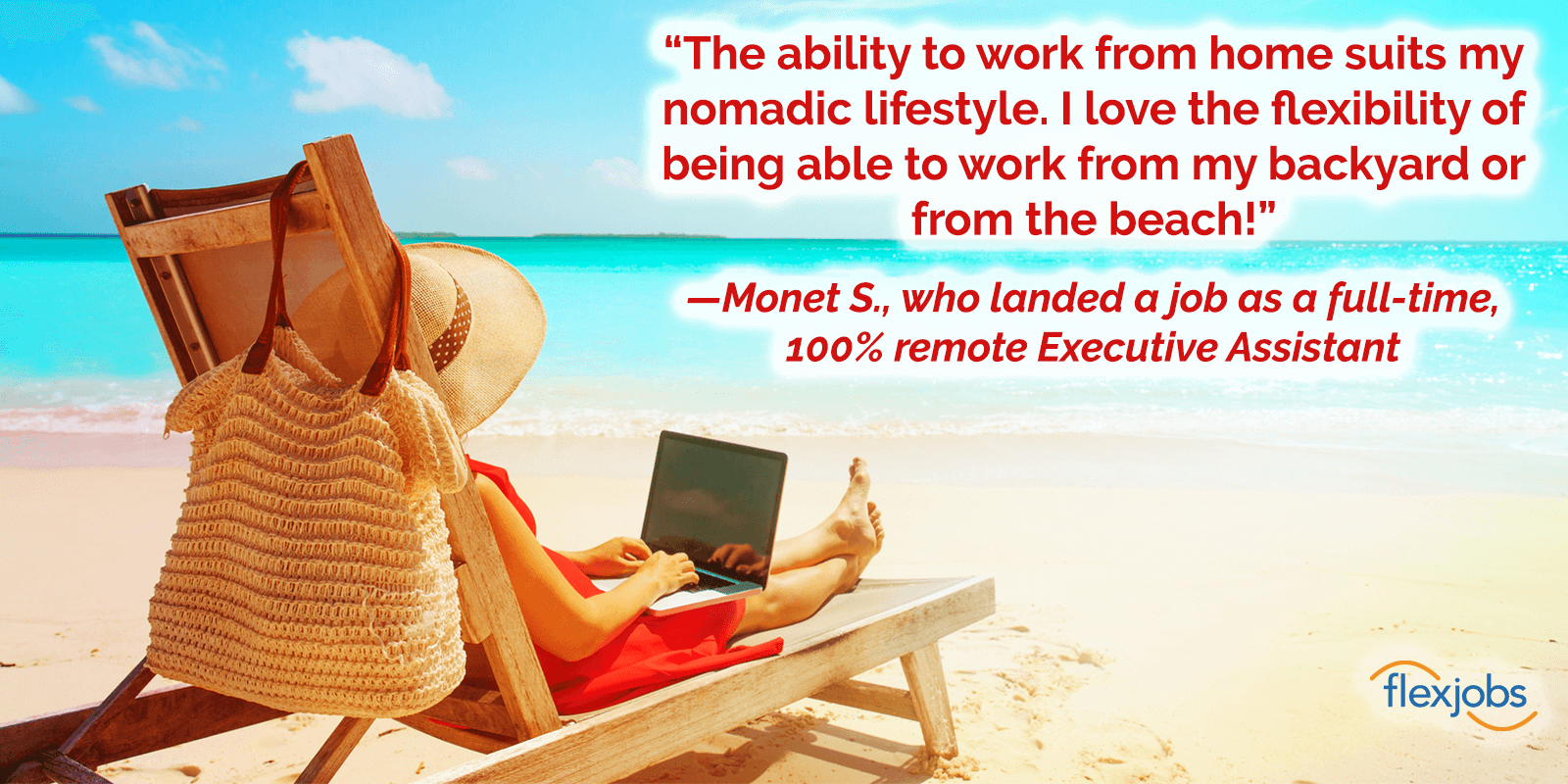 Beach or Backyard? Remote Assistant Job Lets Woman Work Anywhere 2