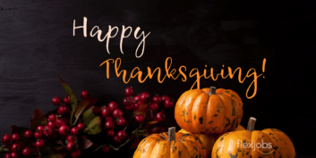 The FlexJobs Team Wishes You Happy Thanksgiving!