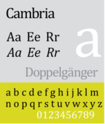 An example of Cambria Font