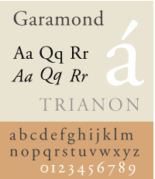 An example of Garamond font
