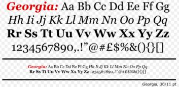 An example of Georgia font