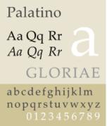 An example of Palatino font