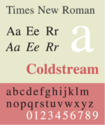 An example of Times New Roman font