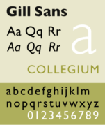 An example of Gill Sans font