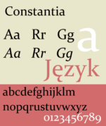 An example of Constantia font