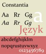 An example of Constantia font