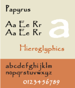An example of Papyrus font