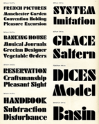 An example of Futura font
