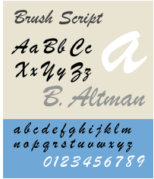 An example of Brush Script font