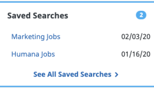 Saved searches FlexJobs dashboard