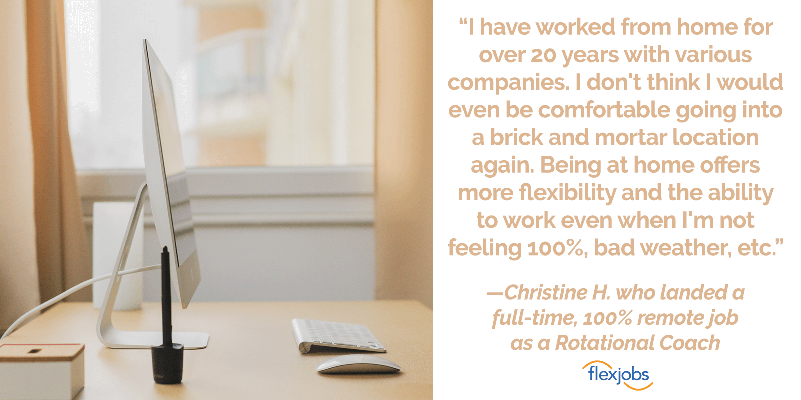 Repeat FlexJobs Customer Finds Success with Remote Work 2