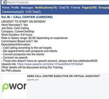 facebook_unemployment scam