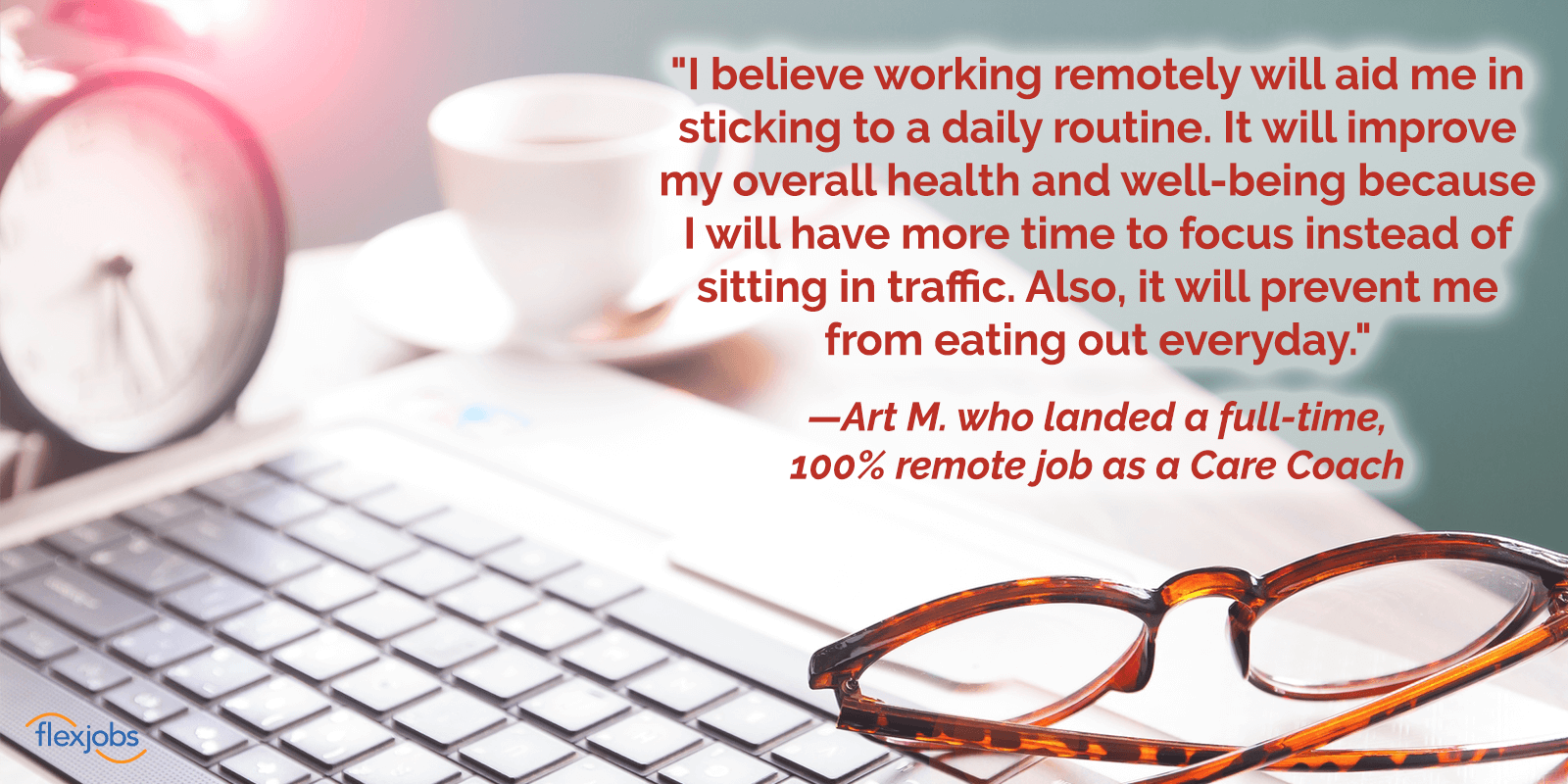 Woman Utilizes FlexJobs' Membership Perks to Quickly Find Remote Job 2