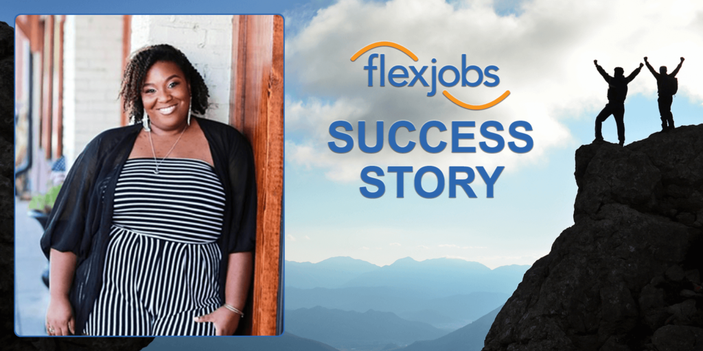 woman utilizes flexjobs asseessment center to quickly find remote job