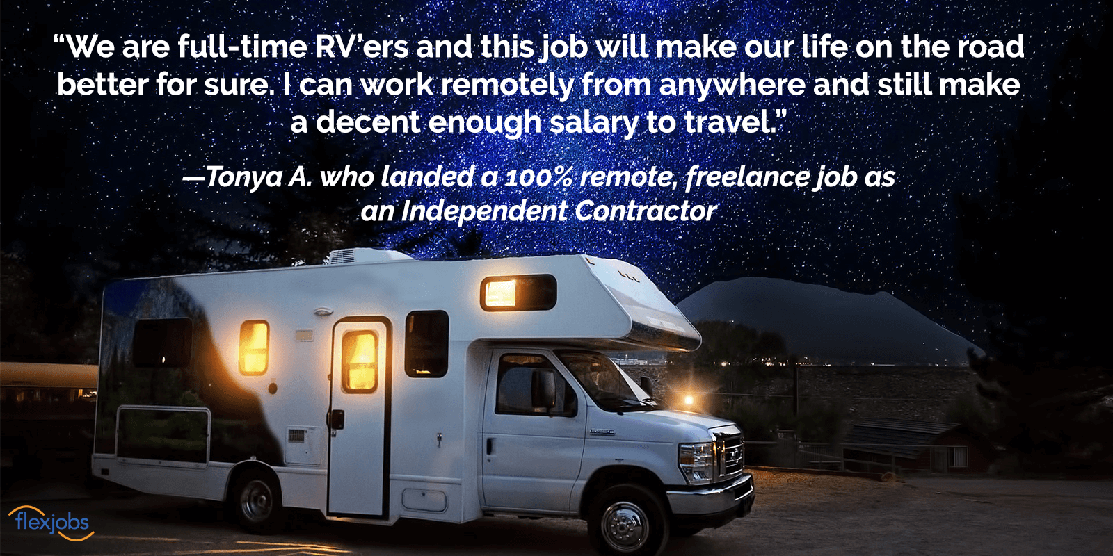 FlexJobs Provides Full-Time RVer With Ability to Work From Anywhere 2