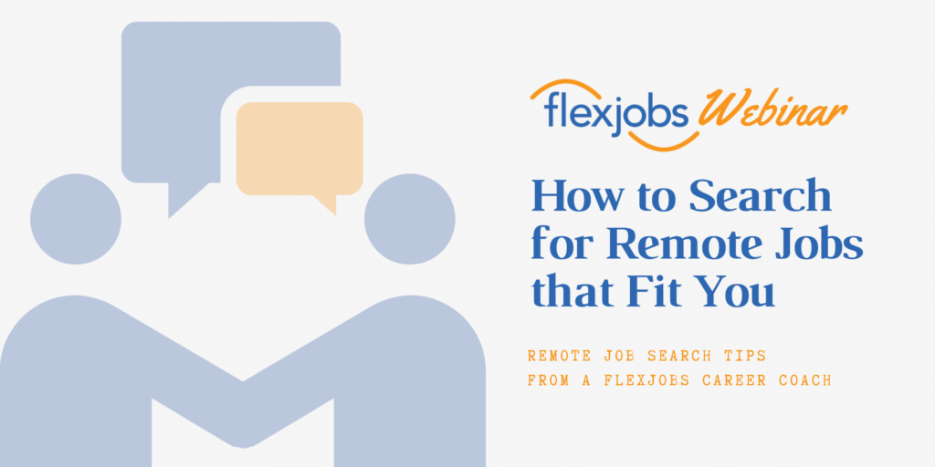 how to search for remote jobs that fit you